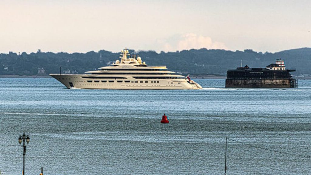 $650 million super yacht spotted off the coast of Portsmouth