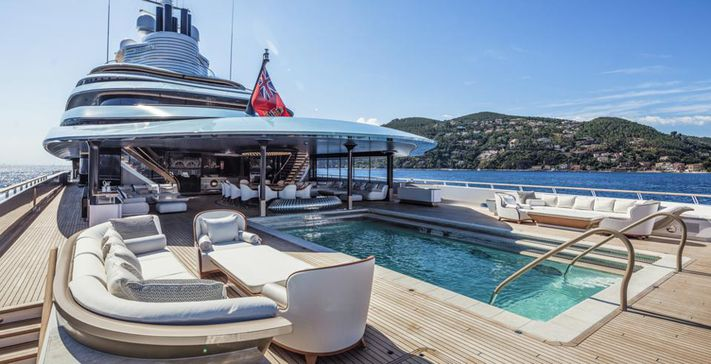 superyacht swimming pools